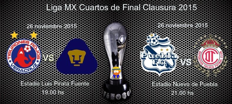 Liga mx cuartos de final apertura 2015 for Euroliga cuartos de final